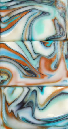 Spinning Swirl CP Soap Is Made From 70% Safflower Oil HO, 26% Coconut & 4% Rizi, Sugar & Salt As Usual