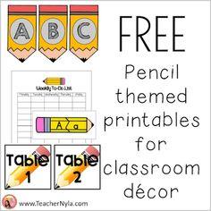 Free Pencil Theme Classroom Decor Printables Kindergarten Classroom Decor, Classroom Jobs, Future Classroom, Free Teaching Resources, Teaching Ideas, School Forms, Cvce Words, Elementary Education, Second Grade