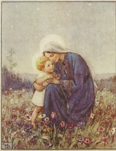 Jesus at Mary's Knee Artwork by Cicely Mary Barker
