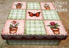caixa patchwork com carimbos - Loucas por caixas - Terra Fotolog