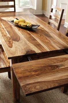 "Corvallis extension 92"" & 112"" dining table. Shesham wood. | Aardvark Home Decor"