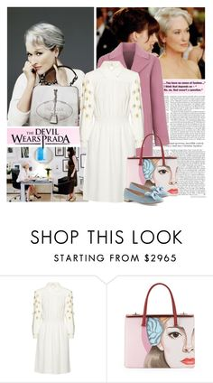 """""""Pink Friday - The Angel Also Wears Prada"""" by celida-loves-pink ❤ liked on Polyvore featuring Prada and Miu Miu"""