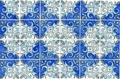 Original Art  Inspired by Portuguese tiles  on 8x10 by martaharvey, $40.00