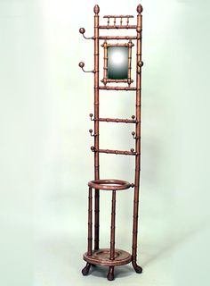 Bamboo faux bamboo hatrack/umbrella stand standing hatrack painted