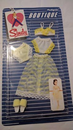 NEW MOC vintage sindy boutique lingerie set slip bra knickers slippers | eBay