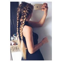 """24"""" Straight Full Head Clip in Synthetic Hair Extensions 7pcs OneDor ❤ liked on Polyvore featuring beauty products, haircare, hair styling tools and hair"""