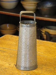 Vintage Small Round Tin Grater by kittredgemercantile on Etsy, $48.00