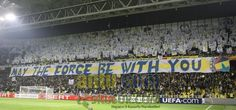 #Fenerbahce #Amazing #choreography #İnanılmaz #koreografi #may #the #force #be #with #you #Fenerbahce #1-1 #Lille #Crazy #Fans