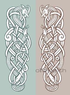 celtic zoomorphic coloured designs - Google Search