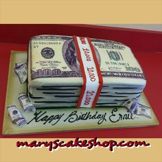 money cake, money stacks cake
