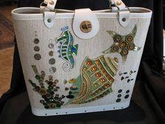 Fish, Seahorse, Seaweed, Starfish Enid Collins bag