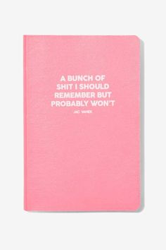 Jac Vanek Bunch of Shit Notebook - Gifts | Gifts | The Girl Boss | The Party Animal | All Gifts