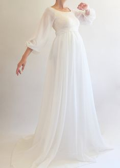 a516dad9f7a ANNABELLE Bohemian Wedding Maternity Gown
