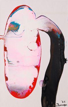 Sadamasa Motonaga-Work, 1966, 9x14cm, acrylic on paper