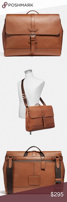 93138eff0c46 Coach Leather Messenger Crossbody Bag Coach Leather Messenger Crossbody Bag  Natural smooth leather Antique Nickel hardware