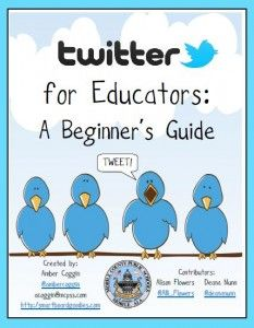 Good guide for teachers getting started with Twitter. I have learned so much by creating a Personal Learning Network (PLN) on Twitter! @frugalteacher @mrsmorgansclass