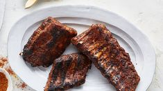 Ingredients and step-by-step recipe for Oven Baked Dry Rub Ribs. Find more gourmet recipes and meal ideas at The Fresh Market today! Oven Pork Ribs, Slow Cooker Pork Ribs, Oven Baked Ribs, Barbecue Pork Ribs, Ribs On Grill, Bbq, Rib Recipes, Gourmet Recipes, Cooking Recipes
