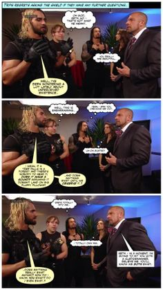 Seth gets philosophical, Dean watched in horror and Roman ponders his relationship with Stephanie... credit Jen@dean-ambrose.net