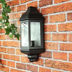 Applique extérieure murale en métal noir lanterne Sanboi Inspire