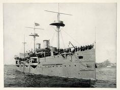 1898 Print Spanish American War Battleship San Francisco John A. Howell SAW1
