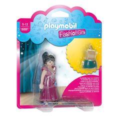 Playmobil 6881. Breid de Meeneem Fashionshop (art. 2540542) uit met Fashion Girl - Party! De bijhorende kledingstukken kunnen met de meegeleverde kapstok opgehangen worden in de kledingrekken van de shop.PLAYMOBIL inspireert kinderen hun eigen avonturen te creëren en hun fantasie de vrije loop te laten. De essentie van PLAYMOBIL is de speelfiguur van 7,5cm groot met beweeglijke ledematen, handen met een grijpfunctie die bijpassende accessoires kunnen vasthouden en een rond, draaibaar hoofd…