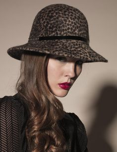 Kahri by KahriAnne Kerr Synthesizer Hat Leopard #KahribyKahriAnneKerr #Kahri #accessories #wholesale #shoptoko bling, hats, leopard hat, synthes hat, hat kahri, accessori, shop kahri, beaver fur, kahriann kerr
