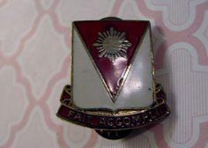 "Vintage Mission Accomplished Pin ""FAIT ACCOMPLI"" Red White Gold Enamel Ira Green"