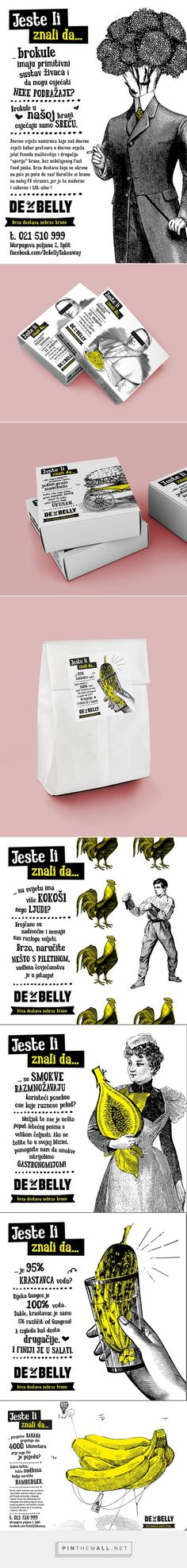DeBelly dostava on #Behance this is kinda cool take out #packaging. Something to do with the Pope and pickles (LOL) curated by Packaging Diva PD created via https://www.behance.net/gallery/DeBelly-dostava/15822703