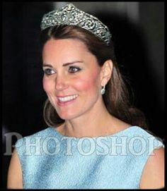 PHOTOSHOP DISASTER,,Duchess Of Cambridge Wearing Queen Elisabeth ( Of The Belgians) Cartier