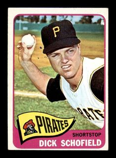 1965 Topps Dick Schofield Baseball Card for sale online Dayton Dragons, Pirate Signs, Pittsburgh Pirates Baseball, 100 Hits, Signed Contract, Baseball Cards For Sale, Black Sharpie, Autographed Baseballs, Trading Cards