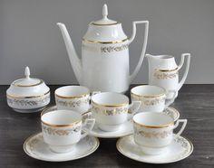 Mid Century Porcelain Coffee Set Pirkenhammer Jaroslav Jezek Louisa Design