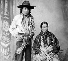Kickapoo couple in Brown County, Kansas - 1906