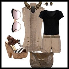 always love black and tan/taupe, created by penny-schutt on Polyvore