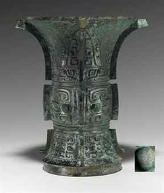 China - RARE BRONZE RITUAL WINE VESSEL, ZUN - LATE SHANG/EARLY WESTERN ZHOU DYNASTY, 12TH-10TH CENTURY BC