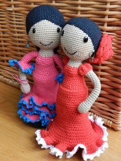 Flamencas amigurumi