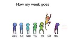 I am like Monday on everyday except the weekend.