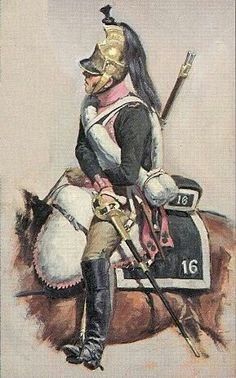SOLDIERS- Rousselot: NAP- France: French 16th Regiment Dragoons 1805, by Lucien Rousselot.