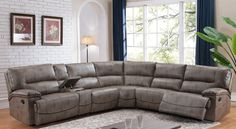 A stylish living room sectional sofa built for the modern day family. Seats 5 people comfortably.