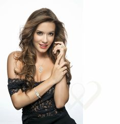 Miss Universe Hungary 2014 in Caprice jewelries.