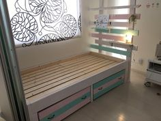 簡単DIY!真似したくなる【すのこ】でリメイクしたベッドが素敵!   キナリノ