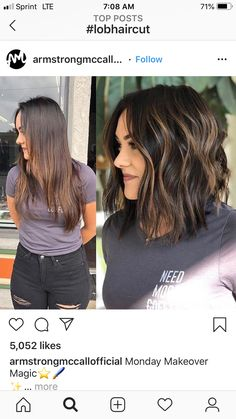 22 Best Honey Brown Hair Color Ideas for Light or Dark Hair in 2019 - Style My Hairs Medium Long Hair, Medium Hair Styles, Curly Hair Styles, Medium Length Hair With Layers, Medium Brunette Hair, Short Dark Hair, Short Haircut With Layers, Brunette Balayage Hair Short, Inverted Bob With Layers