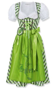 bright green plaid dirndl