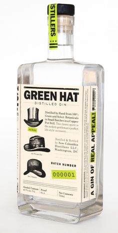 At long last, Green Hat Gin is here (2012). New Columbia Distillers, D.C.'s first legal distillery in more than a century.