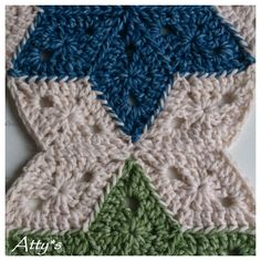 Atty's : Star Blanket Update:  2 sewn together