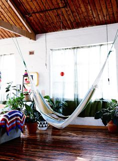 An indoor hammock!