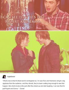 Ron and Hermione - Rupert and Emma