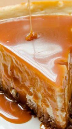 White Chocolate and Caramel Cheesecake ~ A creamy white chocolate cheesecake…