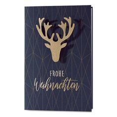 "Ausgefallene Weihnachtskarten ""Hirsch"" ★ #weihnachten #weihnachtskarten #xmascards #christmascards #deer Karten Diy, Minion, Stampin Up, Graphic Design, Cards, Inspiration, Christmas Cards, Noel, Fairies Photos"