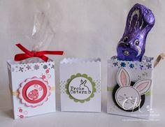 Osterverpackung für Milka Schokohase oder kleine Zellophantüte #CarosBastelbude carosbastelbude.wordpress.com