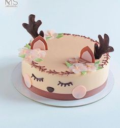 Leopard Birthday, Reindeer Cakes, Birthday Snacks, Mousse Cake, Buttercream Cake, Fancy Cakes, Cake Art, Cake Toppers, Cupcake Cakes